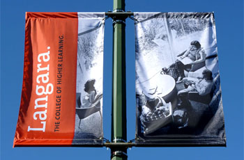 Street Banners, Custom Banners, Banner Hardware, Langara Banners
