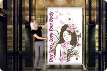 Banner Stands, Backdrop Banner Stands, Trade Show Banner Stands, Fabric Banner Stands