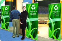 Banner Stands, Quick Banner Stands, QuickBanner, Trade Show Banner Stands, Tension Back Banner Stands