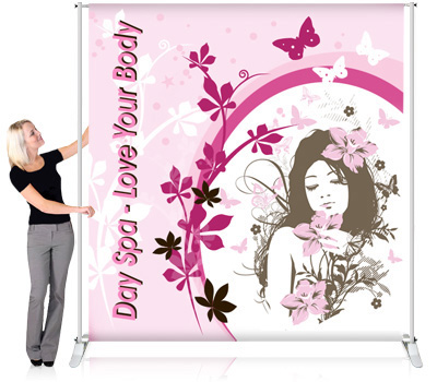 Backdrop Banner Stands, Backdrop Banners, Stage Banners, Fabric Banner Stands, Indoor Banner Stands, Trade Show Banner Stands