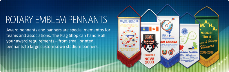Rotary Pennants, Rotary Emblem Banners