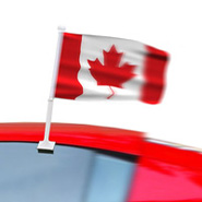 Canada Car Window Flags, Canada Car Flags