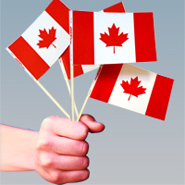 Canada Flags, Canada Paper Flags, Paper Stick Flags