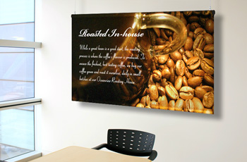 indoor banners, indoor displays, indoor signage, display banners, indoor banner hardware, banner display, hanging banners