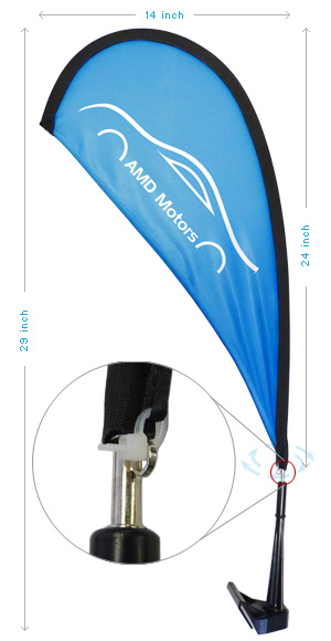 Paddle flags, auto zoom flags, mini feather flags, car feather flags