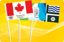 Paper flags, paper stick flags, custom paper flags