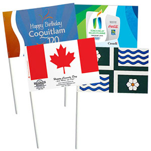 Custom paper flags, paper stick flags, hand held paper flags