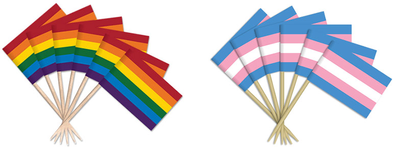 Pride, Transgender Toothpick Flags