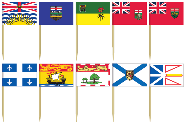 Provincial Toothpick Flags