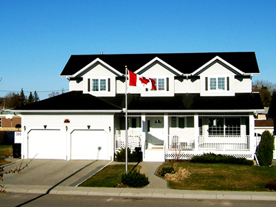 Outdoor flagpoles, Residential flagpoloes