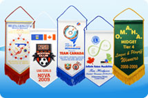 Rotary banners, rotary pennants, custom table banners