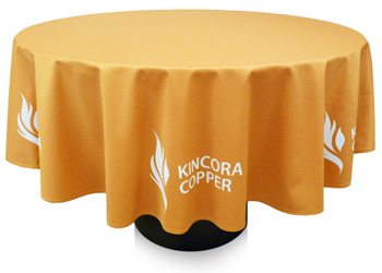 Tablecloths, table covers, table runners, custom tablecloths, trade show tablecloths