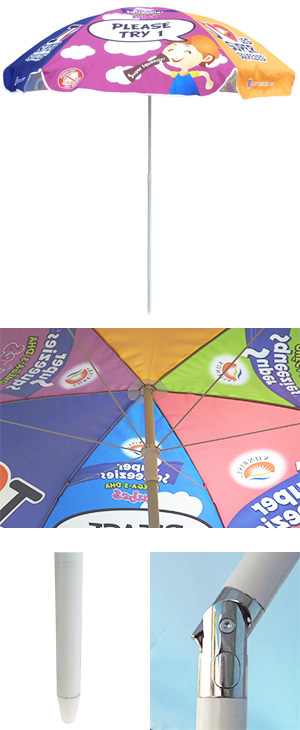 beach umbrellas, promotional umbrellas, promo umbrellas, outdoor umbrellas