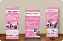Tradeshow banners, tablecloths, banner stands