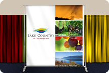 backdrop banners, trade show backdrop