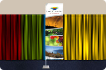 Tradeshow banners, Gamma Banners, Fabric Banners
